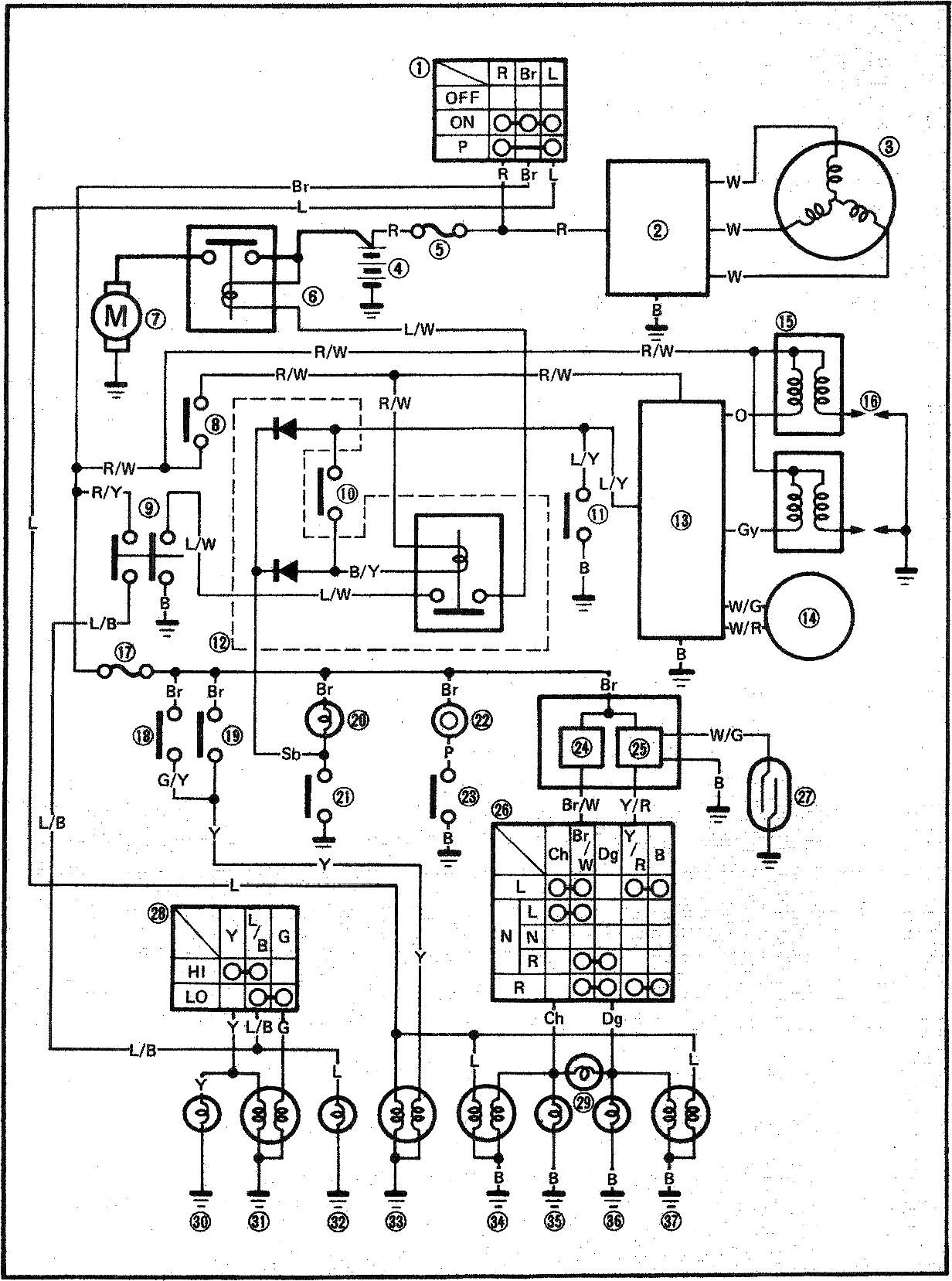Yamaha Virago 250 Wiring Diagram : 2004 Yamaha Virago 250