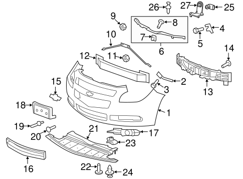 [YG_2853] Front End Exploded View Auto Parts Diagrams