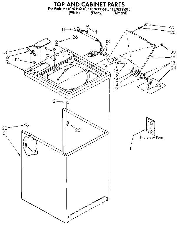 Kenmore Washer Parts Model 110 / Kenmore Front Loader