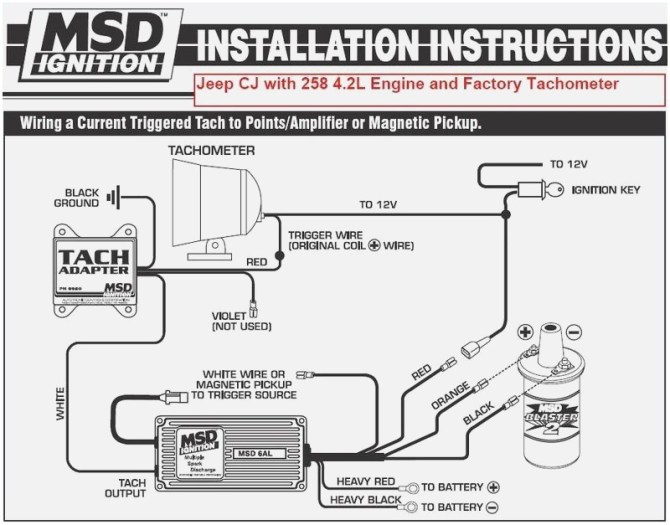 msd ford tach wiring schematic  wiring diagram ground