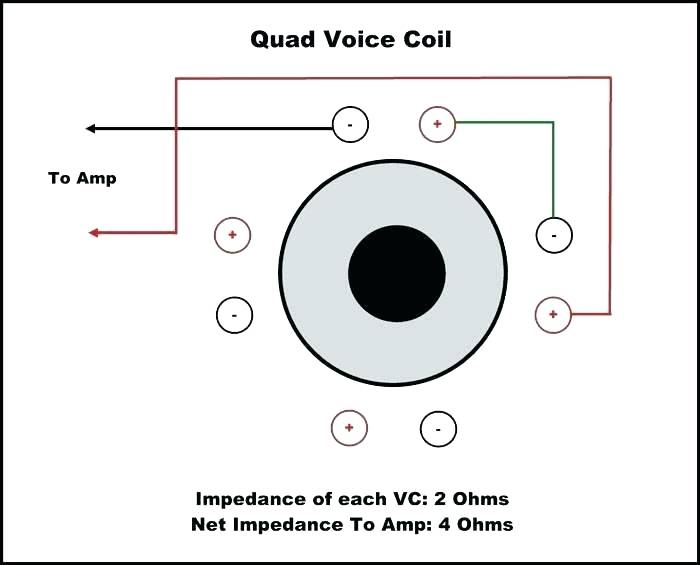 Dual Voice Coil Wiring : Subwoofer Speaker Amp Wiring