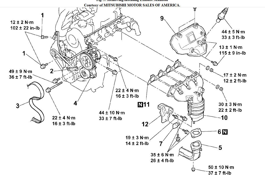 [LX_7262] Mitsubishi Exhaust Diagram Wiring Diagram