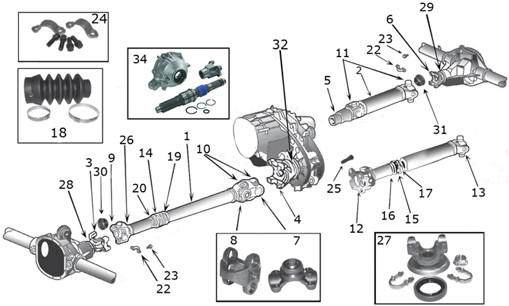 [TY_9118] Isuzu Trooper Front Drive Axle Assembly And Part