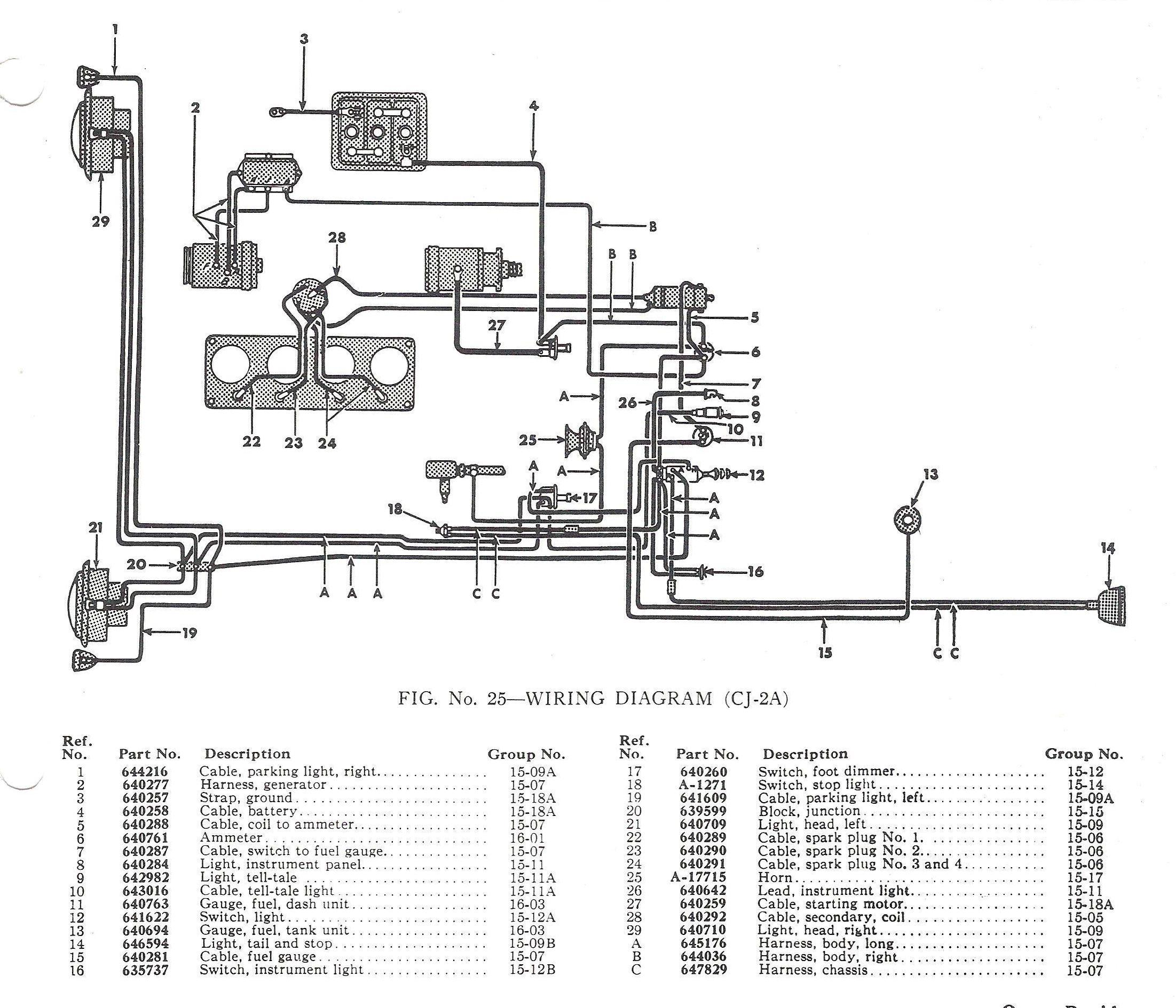 Ha Willys Jeep Engine Diagram Get Free Image About