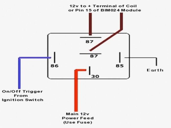 bosch 5 pin relay wiring diagram  cobra car alarm wiring