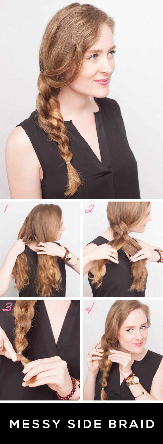 get a messy side braid in 4 easy steps | stylecaster