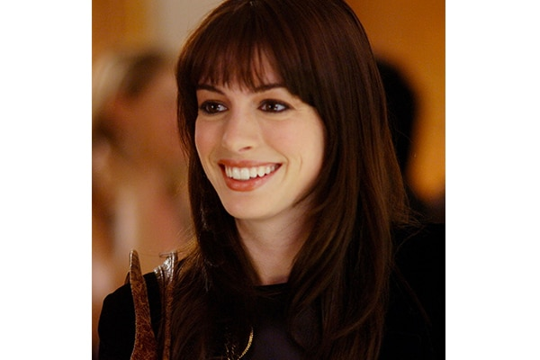Anne's Hathaway's voluminous bangs