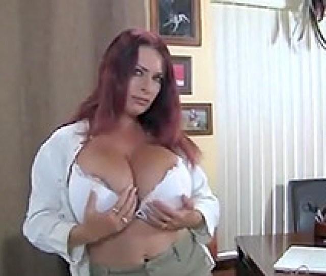 British Mature Redhead With Huge Tits Masturbates At Work