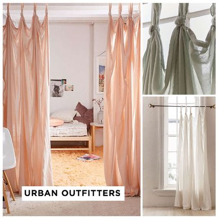 urbanoutfitters knotted window curtain 税関送料込