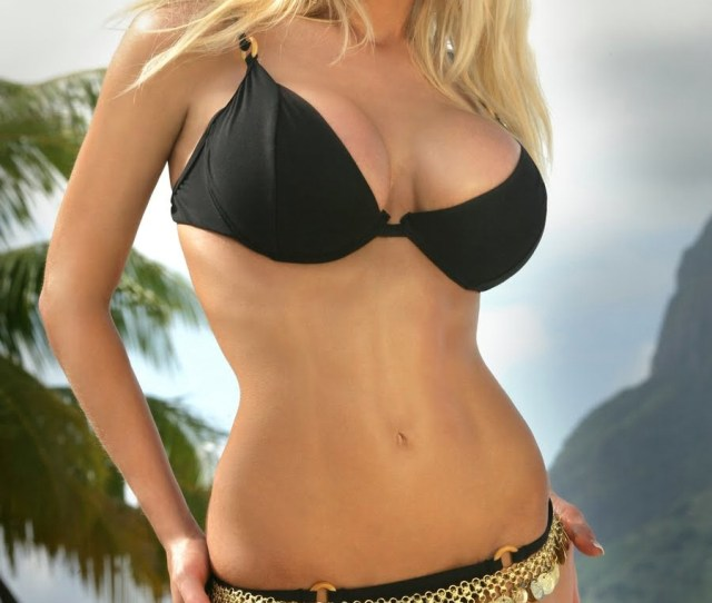Porn Stars Blonde In Black And Bra Bikini Porn Photo