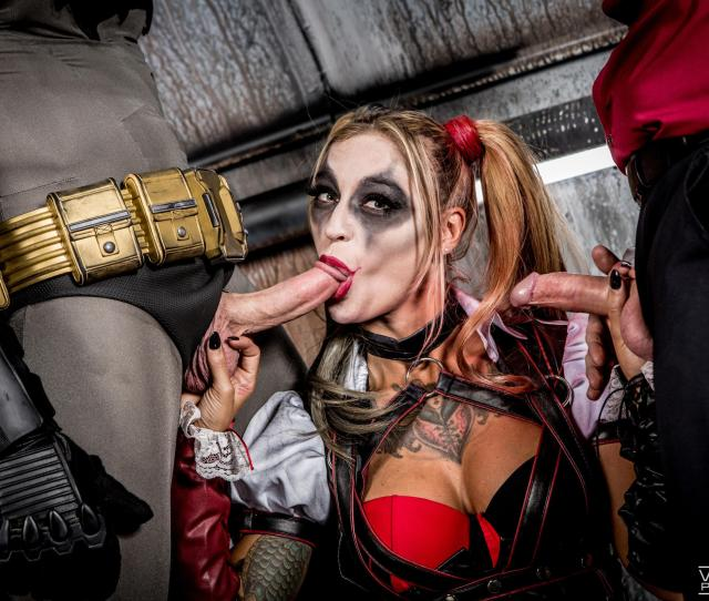 Sucking On Batman And The Joker Porn Photo