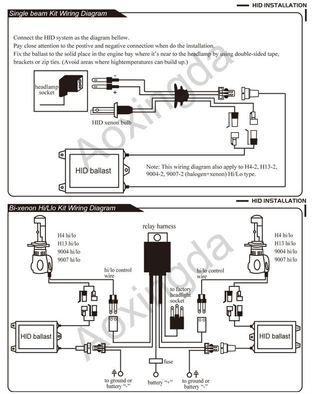 Xantec Hid Ballast Wiring Diagram / Conversion Hid Relay
