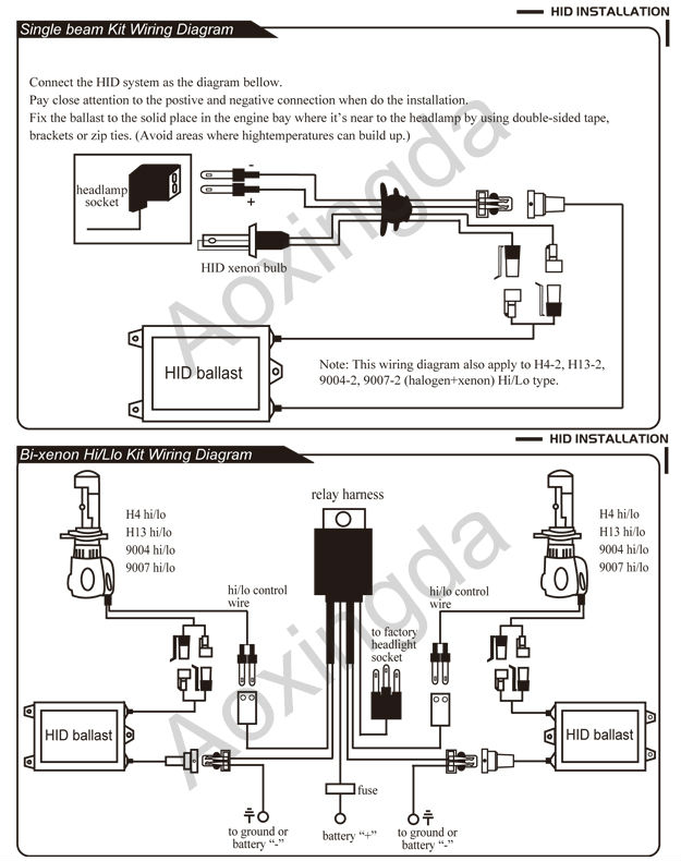 hi lo hid wiring diagram  1997 honda accord engine diagram