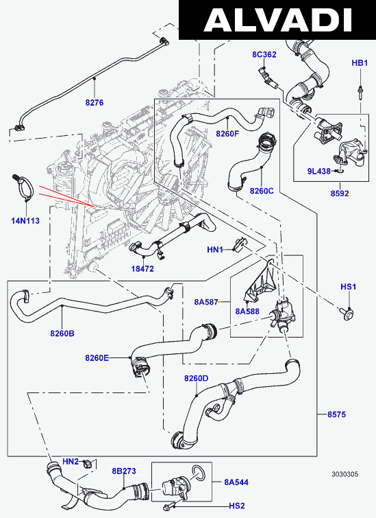 [AD_0052] Range Rover V8 Cooling System Schematic Wiring