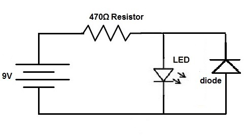 [YV_3451] Diode Protection Circuit Wiring Diagram