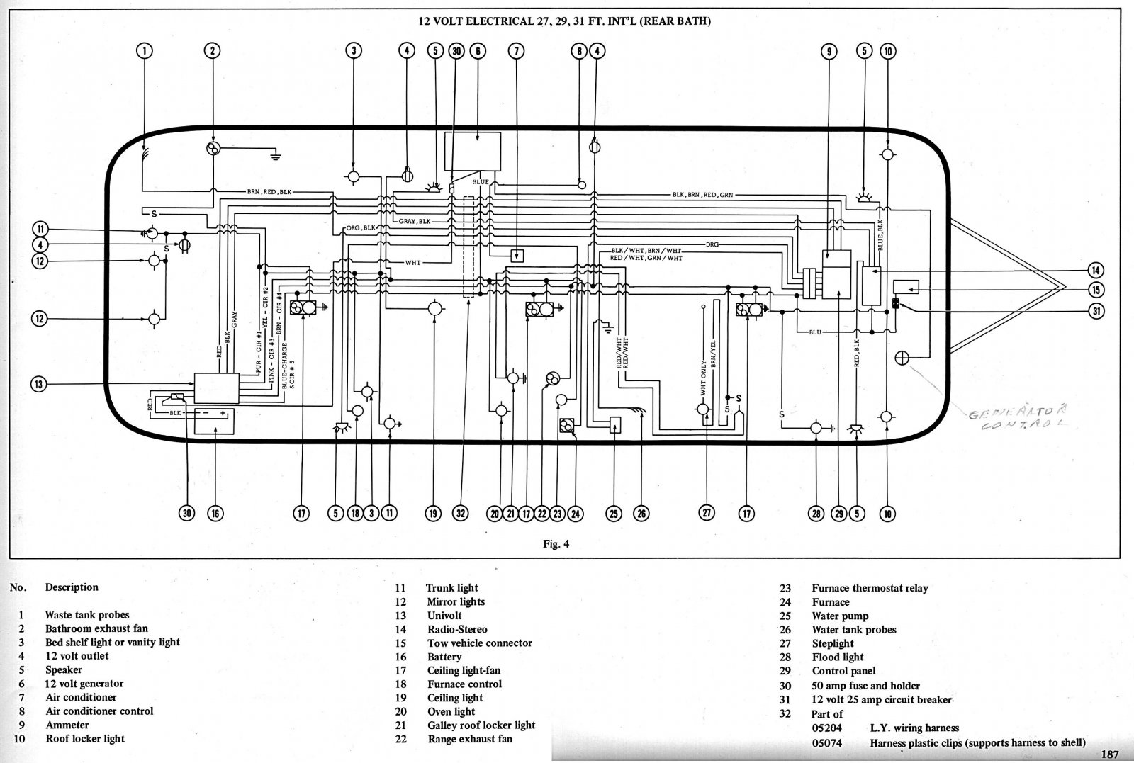 [NX_5189] 1973 Airstream Wiring Diagram Schematic Wiring