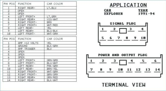 2006 ford five hundred radio wiring diagram  center wiring