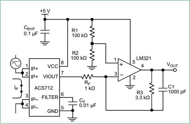 [YN_7490] Ac Current Sensor Circuit Wiring Diagram