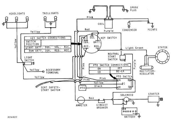 12 Volt Conversion Wiring Diagram 6 John Deere L130