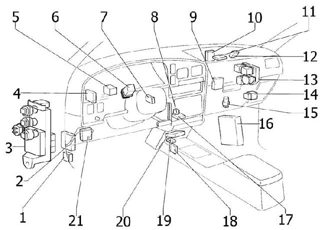 [VN_4293] 1992 Toyota 4Runner Ignition Switch Schematic Wiring