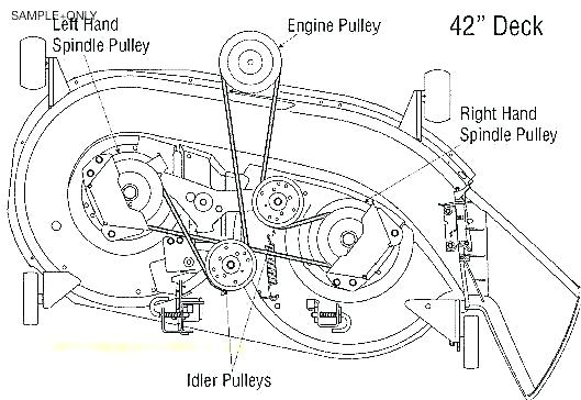 [KF_8087] Belt Deck Diagram Craftsman 42 Mower Free Image