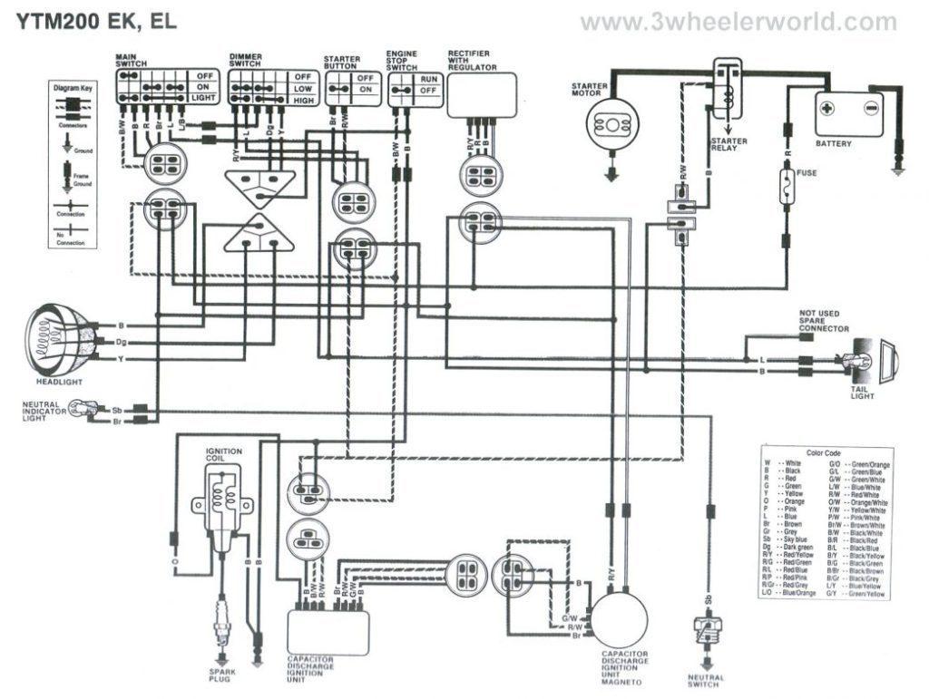 Wr426 Wiring Diagram : Yamaha Yb100 Wiring Diagram Yamaha