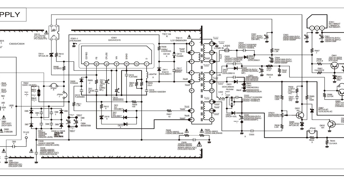 [TZ_0562] Tv Sanyo Power Supply Smps Schematic Circuit