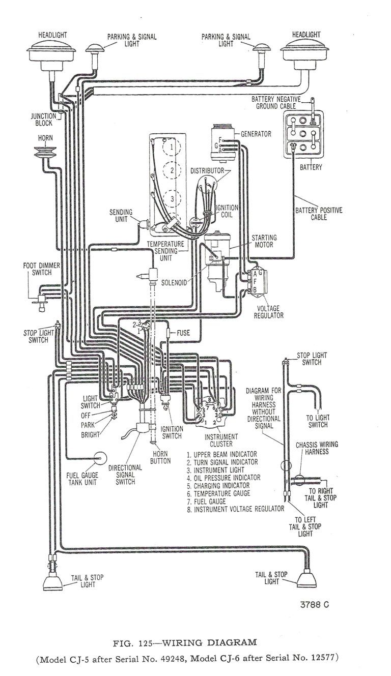 Cj7 Wiring Schematic : Jeep Cj5 V6 Wiring Schematic Wiring