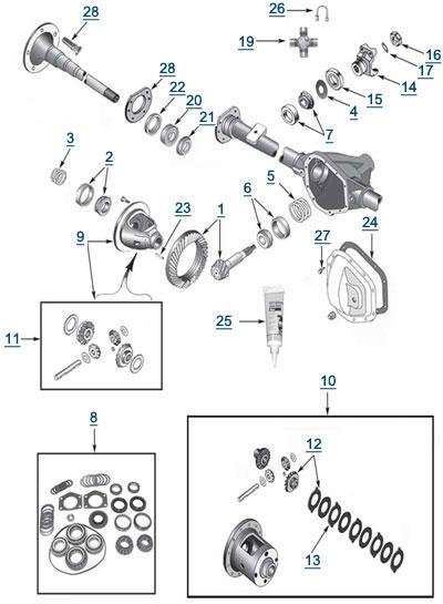 [LD_6314] Dana 44 Front Axle Diagram Schematic Wiring