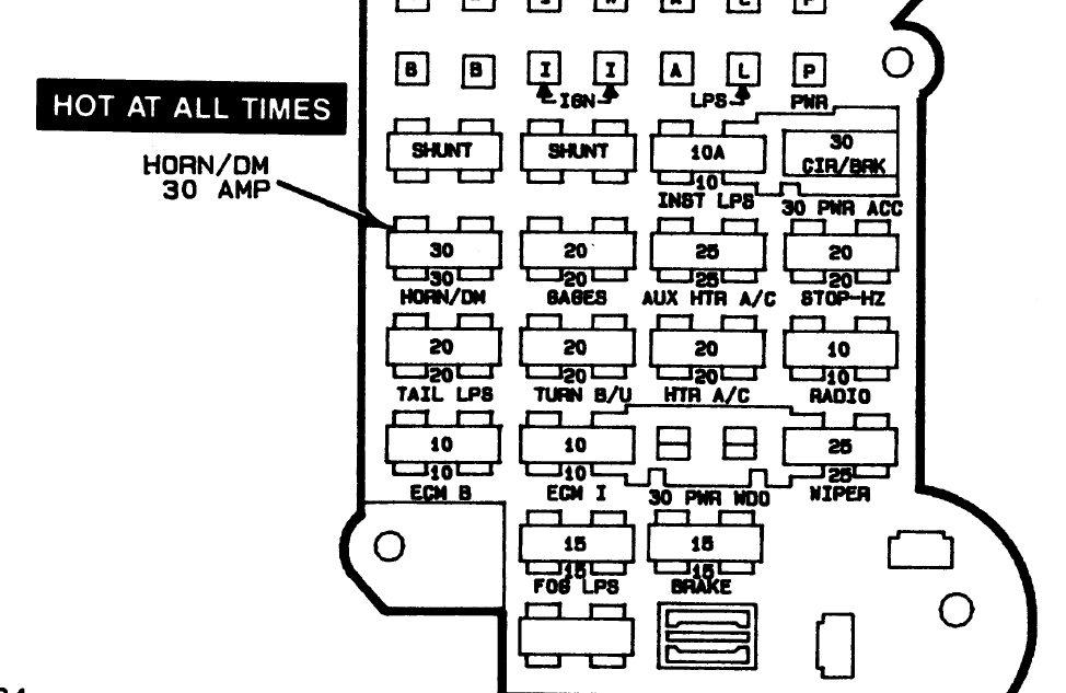 Chevy Astro Fuse Box Diagram : F278 1997 Corvette Fuse Box