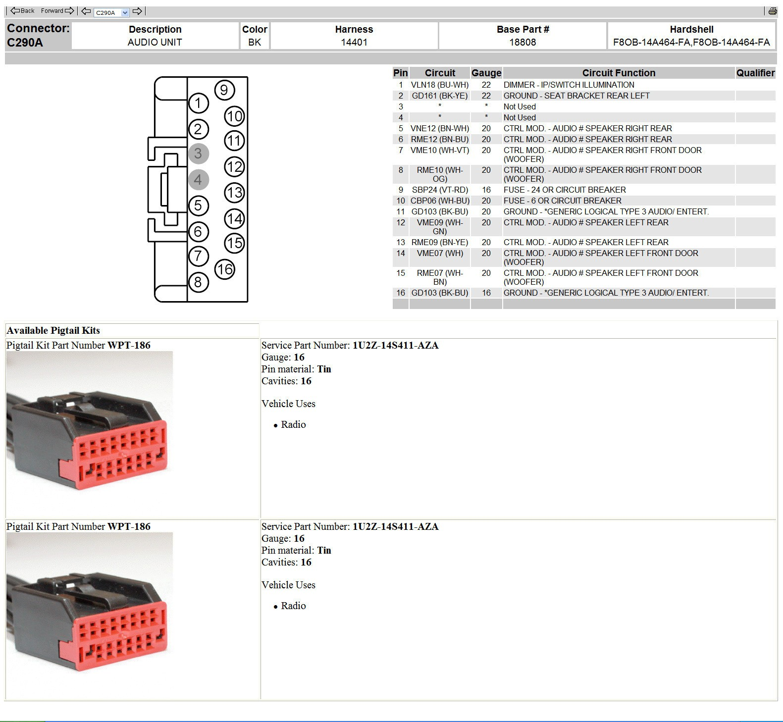 Radio Wiring Diagram For Ford Mustang