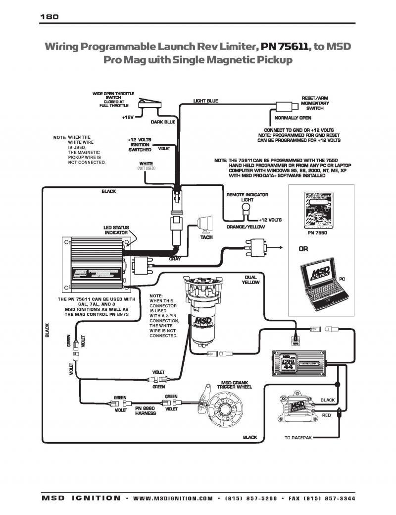 Msd Digital 6Al 6425 Wiring Diagram Database