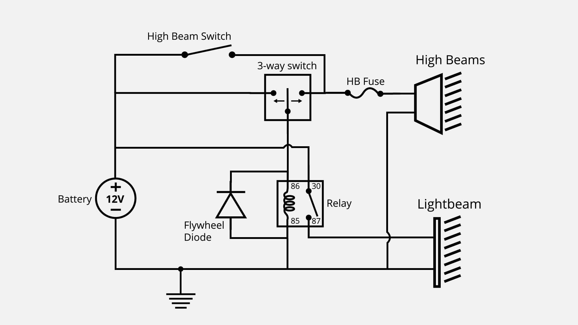 3 Wired Light Bar Wiring Diagram
