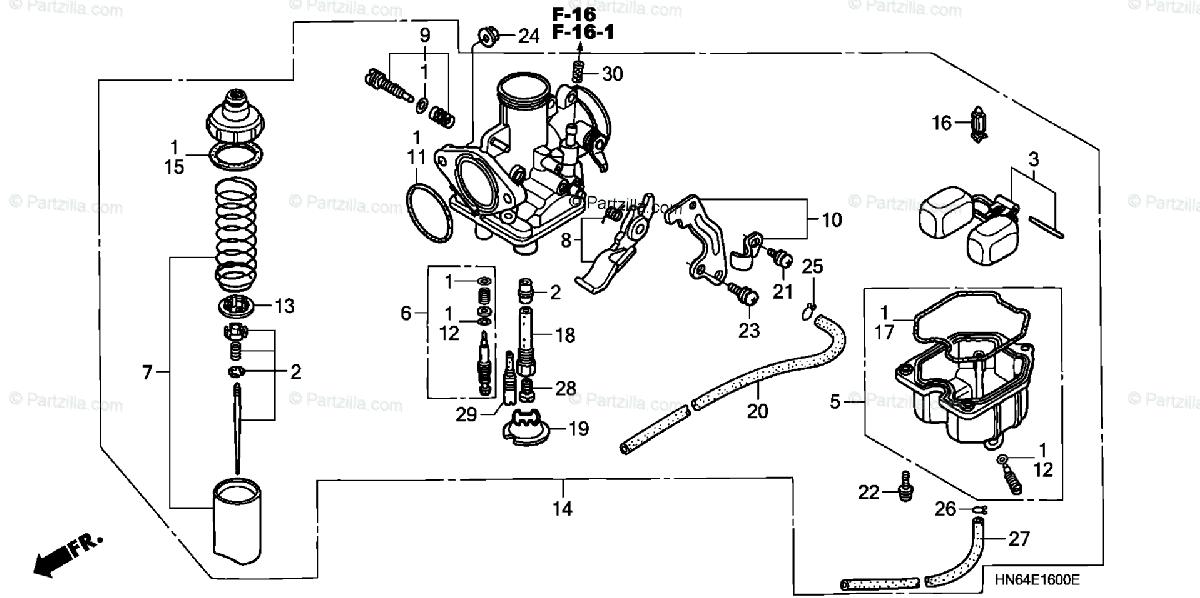 [KL_0998] Honda Recon Carburetor Diagram Schematic Wiring
