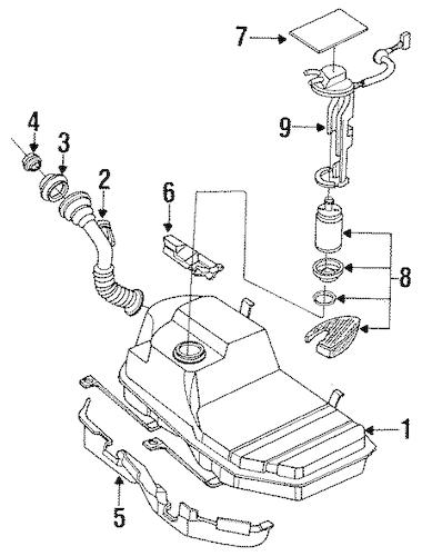 [YW_4722] 1996 Suzuki Esteem System Wiring Diagrams