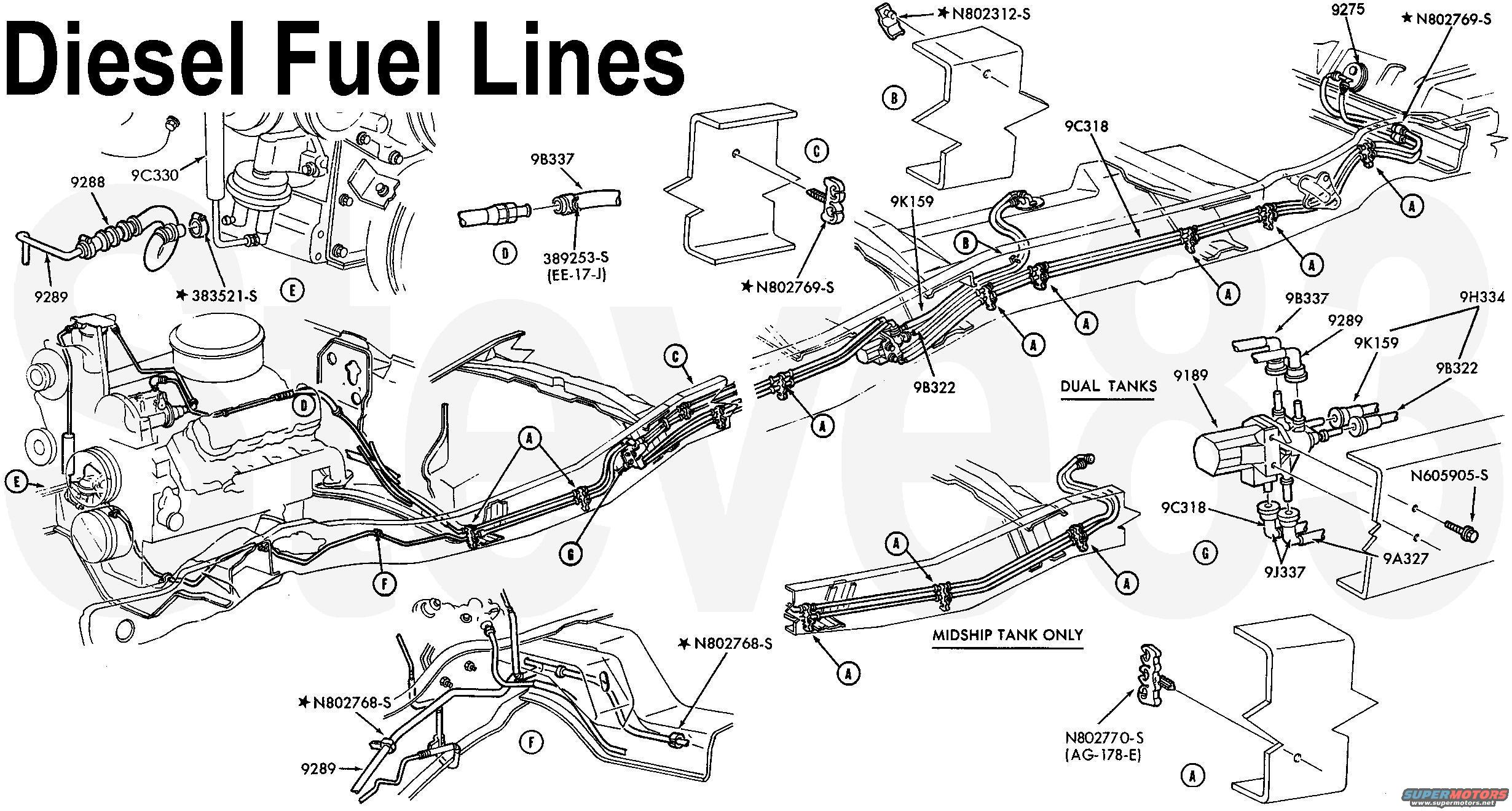 95 7.3 Fuel System Diagram / 1997 Ford F 350 Fuel System
