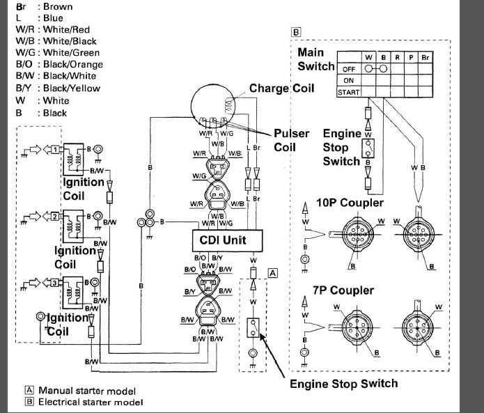 [VA_1689] Yamaha Outboard 2 Stroke Carburetor Diagram