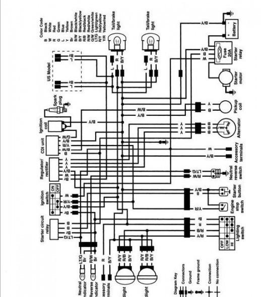 [CK_3764] Kawasaki Bayou 220 Wiring Schematic Diagram