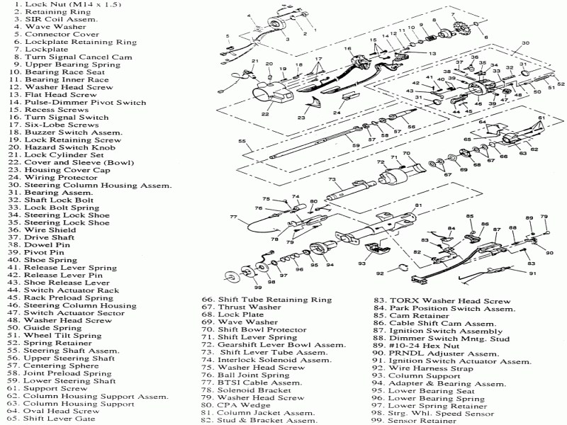 [TG_6625] Steering Column Wiring Diagram 1967 Camaro