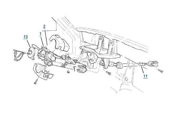 [VR_4406] Available Part Diagrams 7 In Steering Column