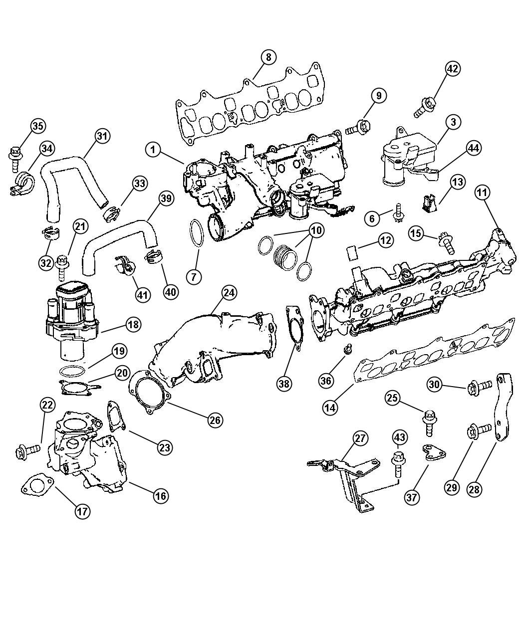 Car & Truck Gaskets OEM EIRING Intake Manifold Gasket For
