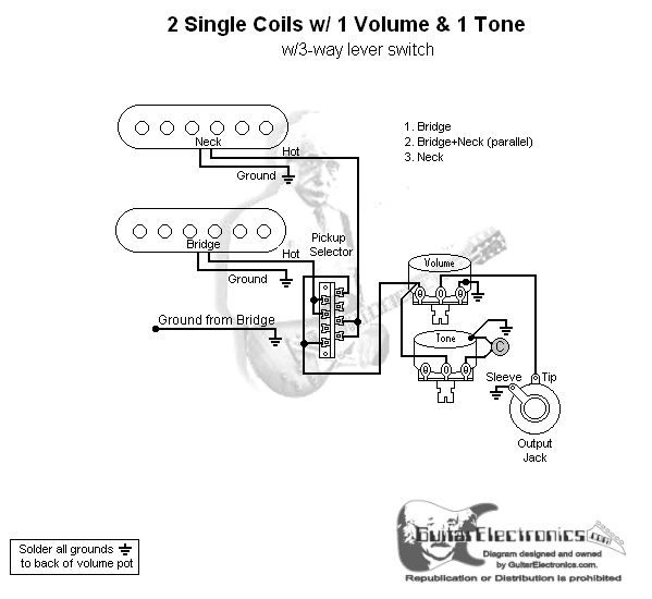 Dimarzio Humbucker Single Pickup Wiring Diagram Free