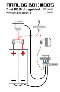 Wiring Diagram Series Parallel Mod Vape : Mechanical V