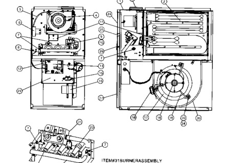 3500A816 Wiring Diagram : Coleman Central Electric Furnace