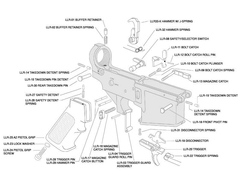 [KG_7531] Ar 15 Lower Diagram Schematic Wiring