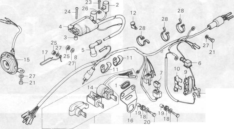 Wire Diagram: Skema Kabel Body Honda Win