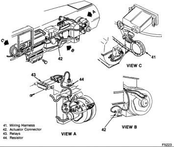 [CH_7348] Chevy Silverado Blend Door Actuator Schematic Wiring