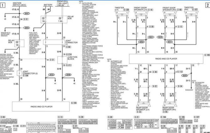 2003 mitsubishi outlander wiring diagram  wiring diagram
