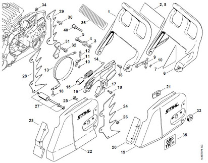 [YR_2090] 036 Stihl Chainsaw Parts Diagram Images Wiring