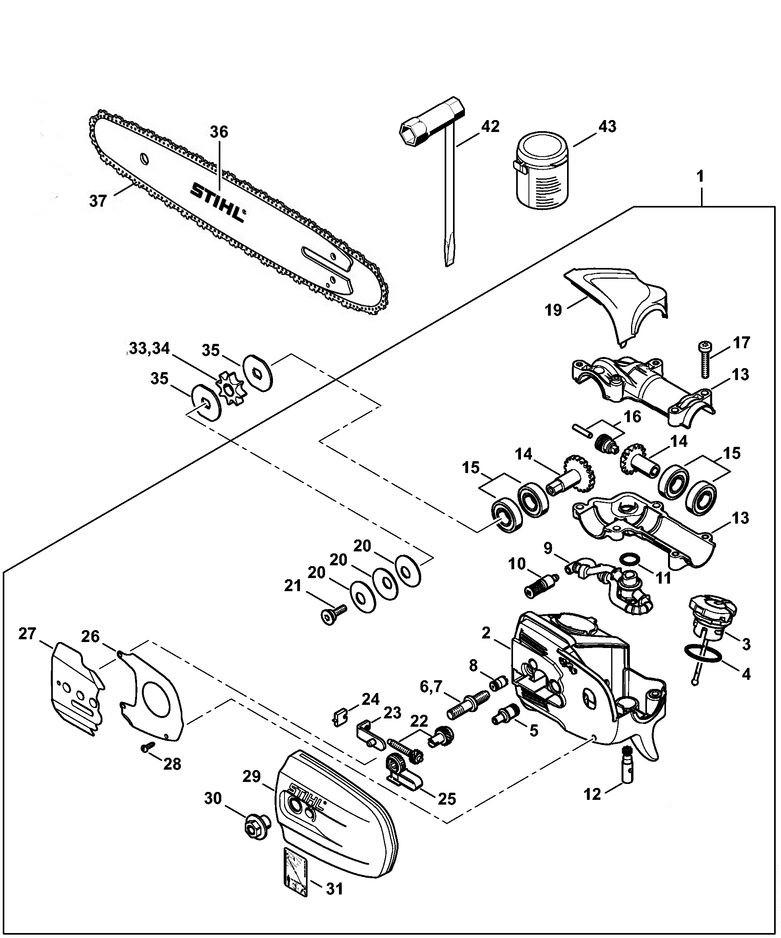 Stihl Ht 131 Pole Saw Shaft Assembly : stihl, shaft, assembly, KS_7064], Stihl, Parts, Diagram, Ht101